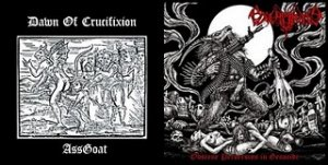 Excruciate 666 & Dawn Of Crucifixion - Obscene Perversion In Genocide/GoatAss (2010)