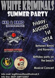 01.08.2014 - White Kriminals Summer Party