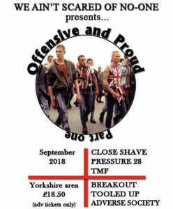 T.M.F., Breakout, Close Shave, Pressure 28 - Live in Leeds 08.09.2018 (HDRip)